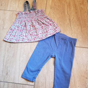 Levis summer tunic and capri set